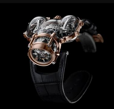 MB&F Horological Machine N°9 HM9 Sapphire Vision Red Gold Black Replica Watch 91.SRL.BL