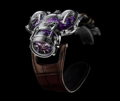MB&F Horological Machine N°9 HM9 Sapphire Vision White Gold Purple Replica Watch 91.SWL.PU