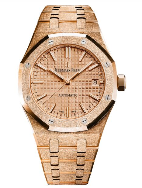 New Replica Audemars Piguet Royal Oak Frosted Gold Selfwinding 15454OR.GG.1259OR.03 watch