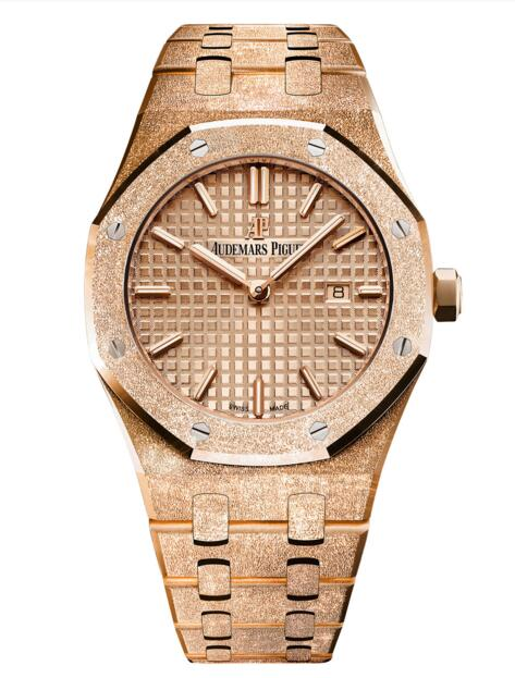 New Replica Audemars Piguet Royal Oak Frosted Gold Quartz 67653OR.GG.1263OR.02 watch