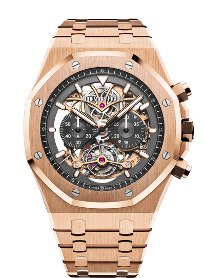 2018 Replica Audemars Piguet ROYAL OAK TOURBILLON CHRONOGRAPH OPENWORKED watch 26347OR.OO.1205OR.01