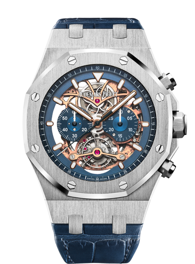 2018 Replica Audemars Piguet ROYAL OAK TOURBILLON CHRONOGRAPH OPENWORKED watch 26347PT.OO.D315CR.01