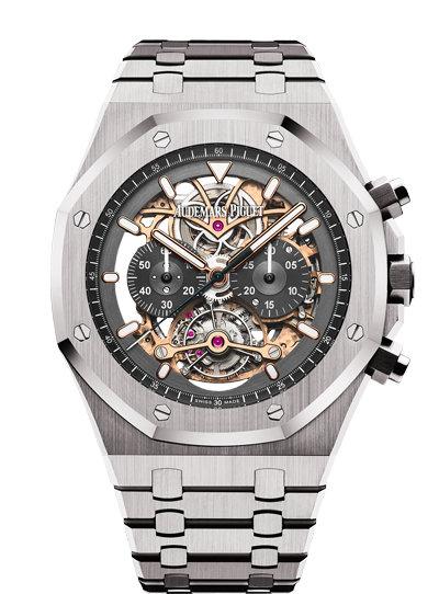2018 Replica Audemars Piguet ROYAL OAK TOURBILLON CHRONOGRAPH OPENWORKED watch 26347TI.OO.1205TI.01