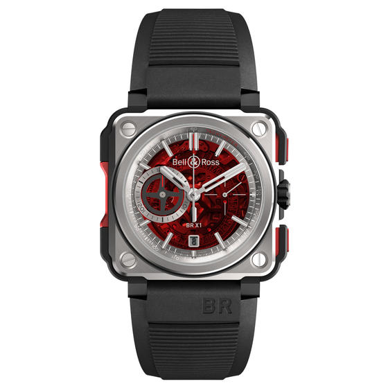 BELL & ROSS Watch Replica BR-X1 SKELETON CHRONOGRAPH RED EDITION LIMITED EDITION