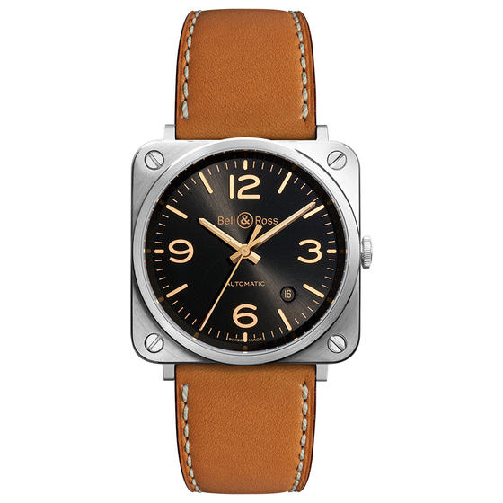 BELL & ROSS Watch replica BR S GOLDEN HERITAGE BRS92-G-HE-ST