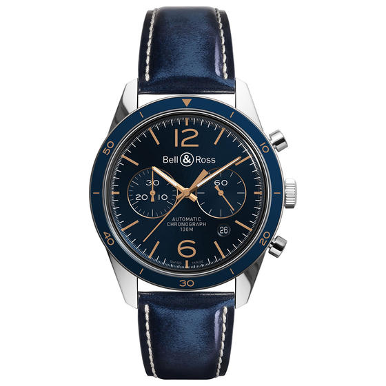 BELL & ROSS Watch replica BR 126 AÉRONAVALE BRV126-BLU-ST/SCA