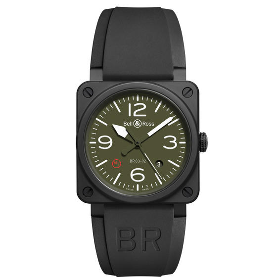 Bell & Ross Watch Replica BR 03-92 CERAMIC MILITARY TYPE BR03-92-MIL-CE