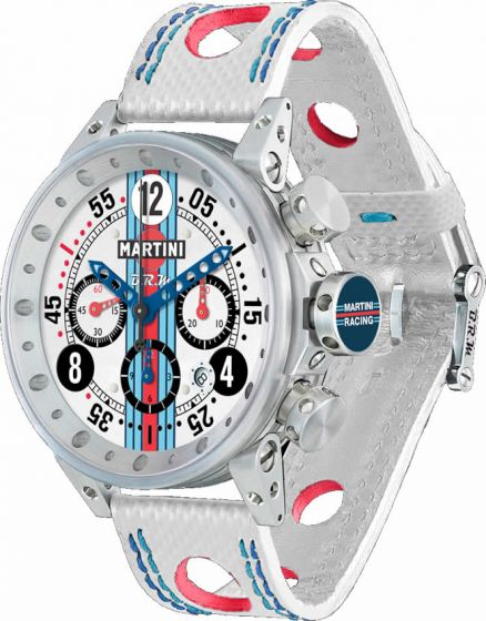 Luxury Replica BRM MARTINI RACING WHITE DIAL LIMITED EDITION V12-44-MR-01 watch