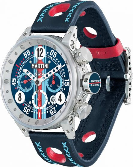 Luxury Replica BRM MARTINI RACING NAVY DIAL LIMITED EDITION V12-44-MR-02 watch