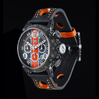 Luxury BRM V8-44 Gulf Chronograph Black PVD Steel Watch replica
