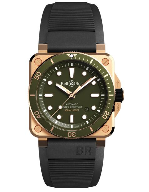 Bell and Ross BR 03-92 Diver Green Bronze BR0392-D-G-BR/SCA Fake watch