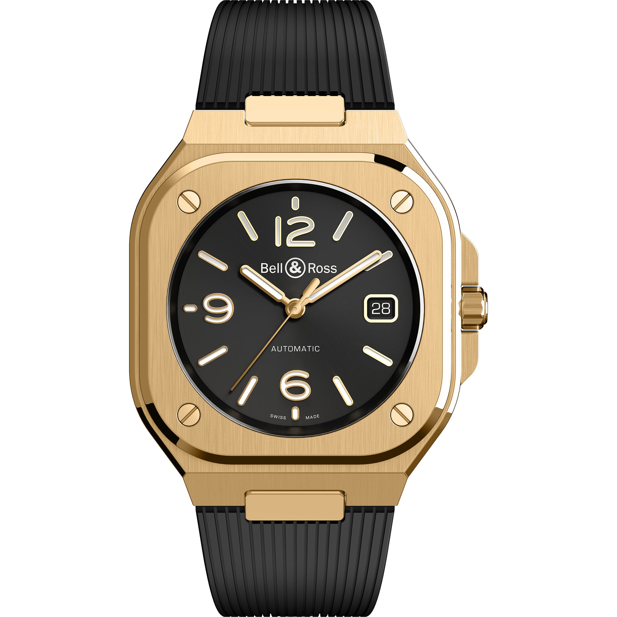bell and ross BR 05 Gold BR05A-BL-PG/SRB watches for sale