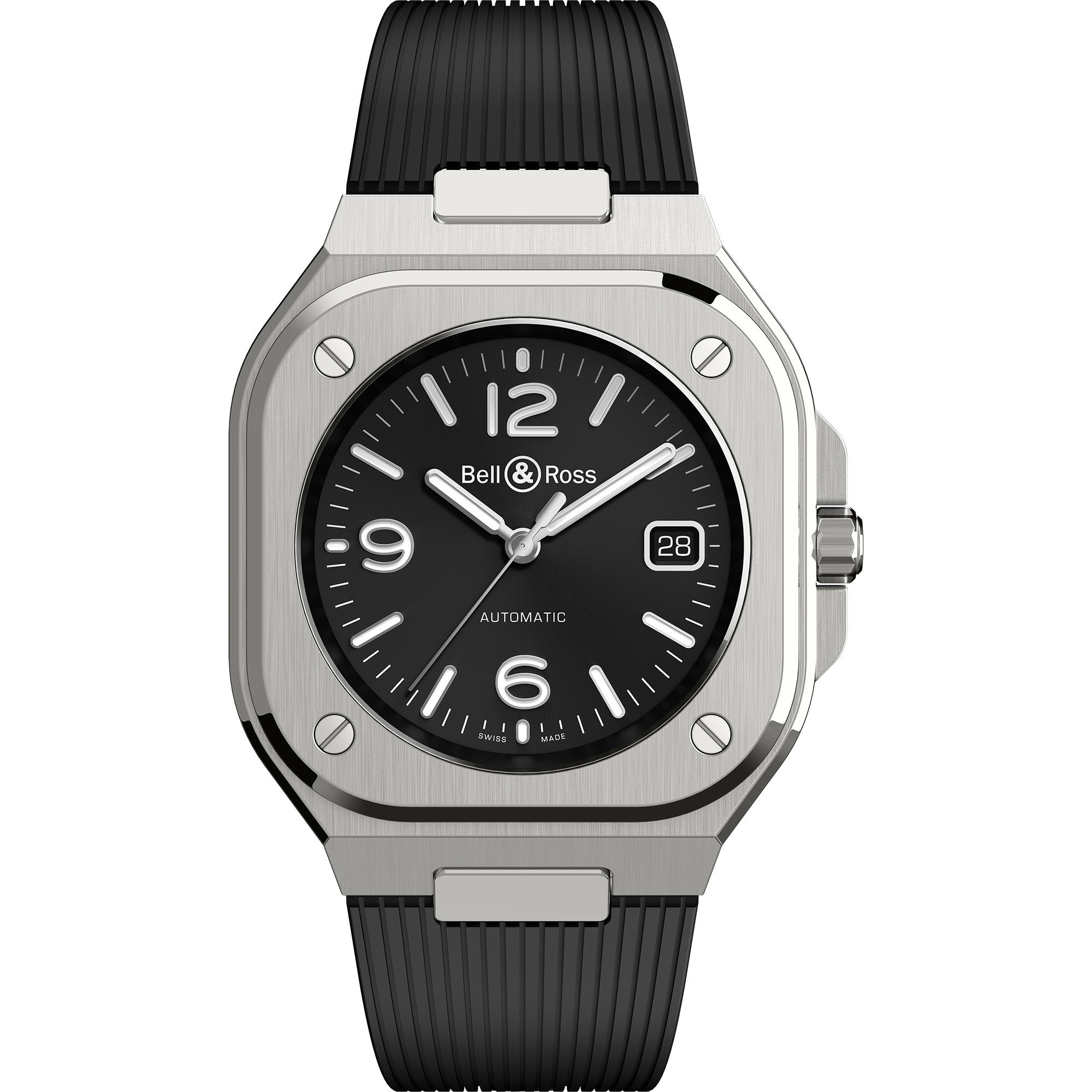 Bell & Ross BR 05 Black Steel BR05A-BL-ST/SRB watches for sale