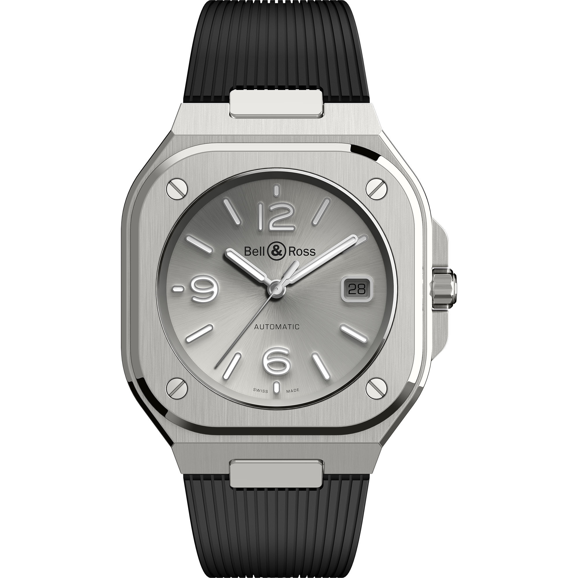 Swiss Bell & Ross BR 05 Grey Steel BR05A-GR-ST/SRB watches price