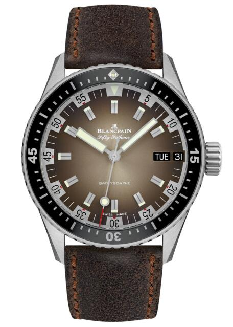 Blancpain replica Fifty Fathoms Bathyscaphe Jour Date 70' 5052-1110-063A watch