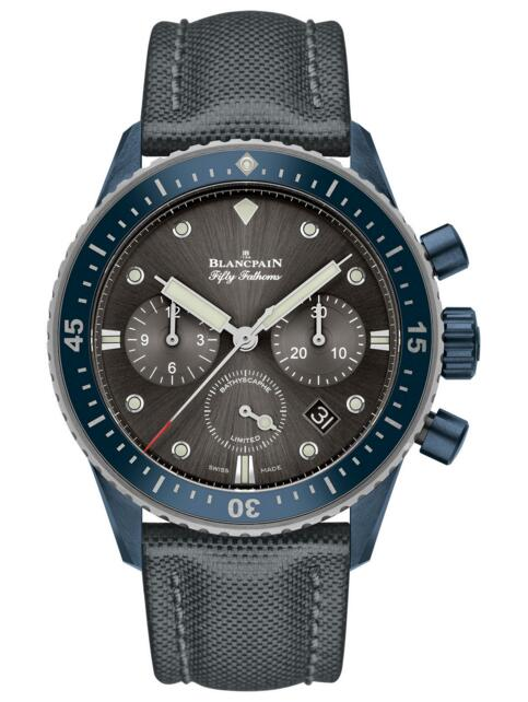 Blancpain replica Fifty Fathoms Bathyscaphe Chronographe Flyback Ocean Commitment II 5200-0310-G52A watch