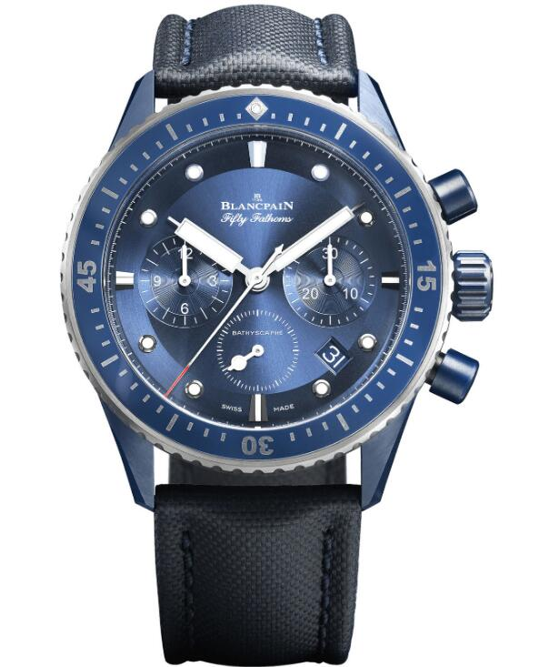 Blancpain 5200-0340-O52A Fifty Fathoms Bathyscaphe Bucherer Blue Editions luxury replica watches