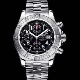 Buy Luxury Replica Breitling Avenger Steel watch Black with Black Counters