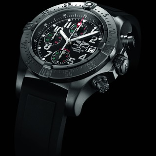 Buy Luxury Replica Breitling Avenger Seawolf Blacksteel Chrono Aguila Real Mexicana Black PVD Steel watch