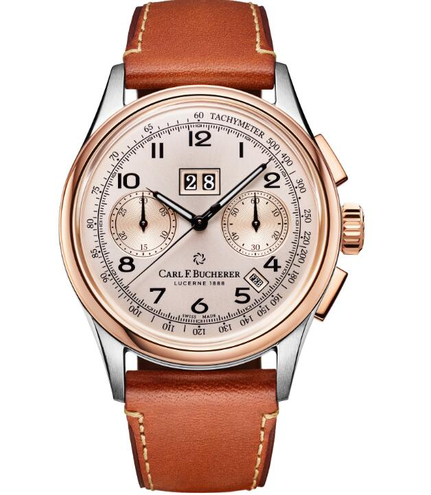fake Carl F. Bucherer Heritage Chrono BiCompax Annual 00.10803.07.42.01 watches