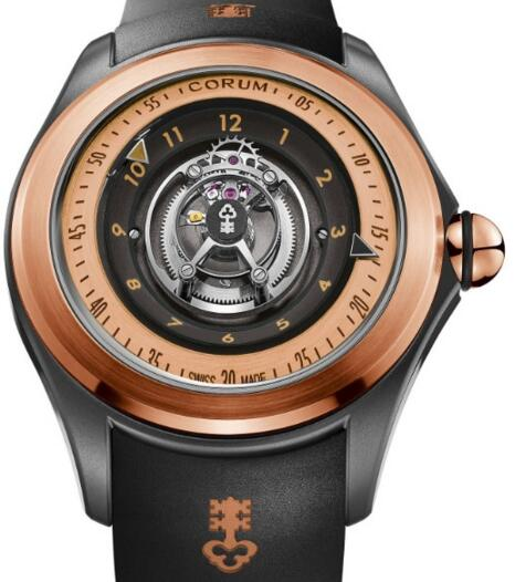 Corum Bubble Replica L406 / 03673 - 406.101.86 / 0371 SW02 Swoosh Central Tourbillon watch