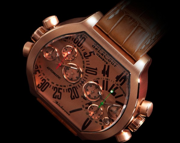 Replica DeLaCour Bichrono SII Pink Gold Replica Watch