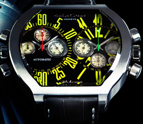 Replica DeLaCour Bichrono SII Steel Yellow Replica Watch