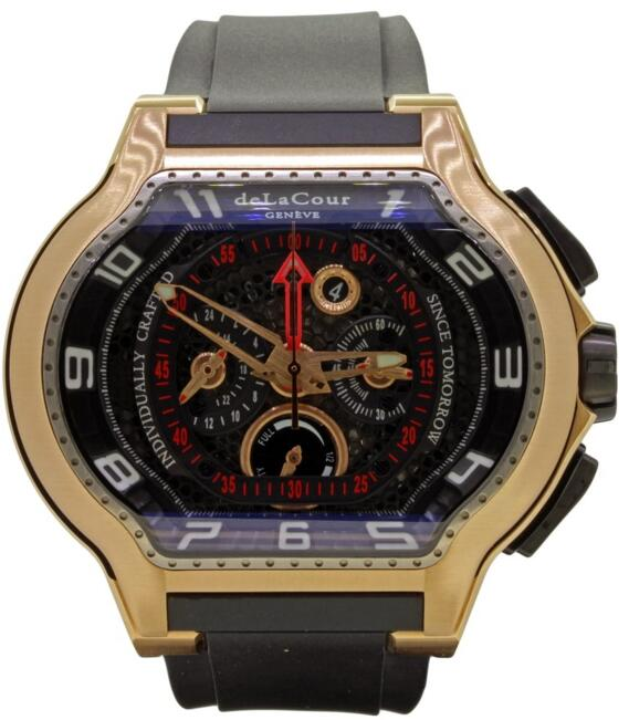 Luxury Replica DELACOUR CITY MEDIUM CHRONO FLYBACK ROSE GOLD watch WAPG0443-1549