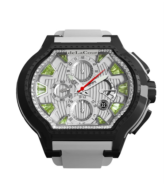 Replica DeLaCour City Ego Episode W Ti/PVD/Peridot Dial WATI0057-1430GREEN Replica Watch