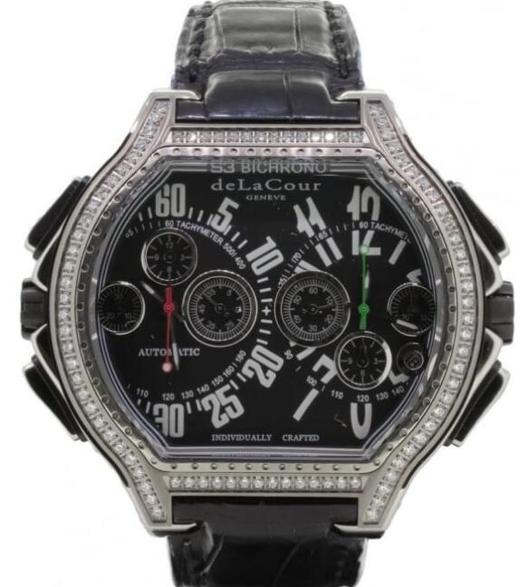Luxury Replica DELACOUR BICHRONO S3 RAFAGA TITANIUM watch WATI0107-1287