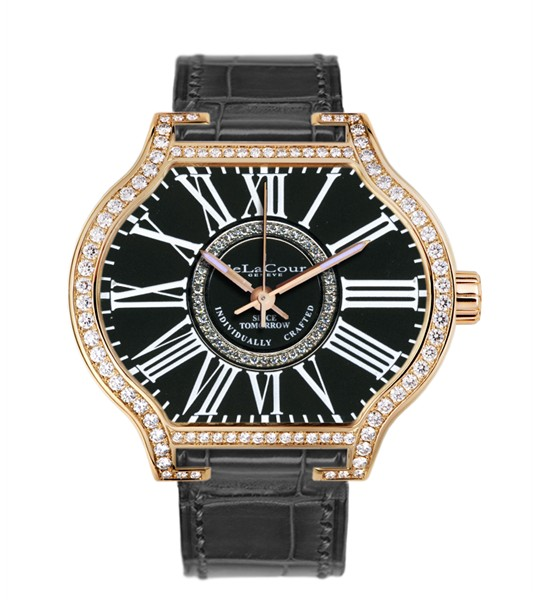 Replica DeLaCour City Attitiude Classic Rose Gold Black WAPG0349-1256BLACK Replica Watch