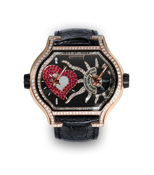 Replica DeLaCour City Cadet 2 A Rose Gold Full Diamond WAPS0019-1462 Replica Watch