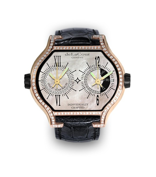 Replica DeLaCour City Cadet 2 A Rose Gold Diamond MOP WAPS0021-1469 Replica Watch