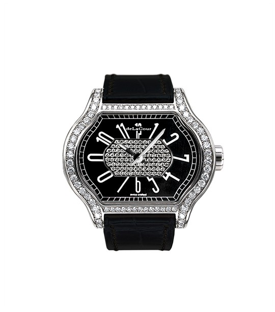 Replica DeLaCour City 1 Black WAST1857-0660W Replica Watch