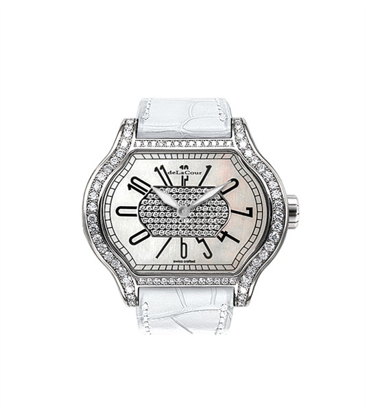 Replica DeLaCour City 1 MOP WAST1857-0717-White Replica Watch