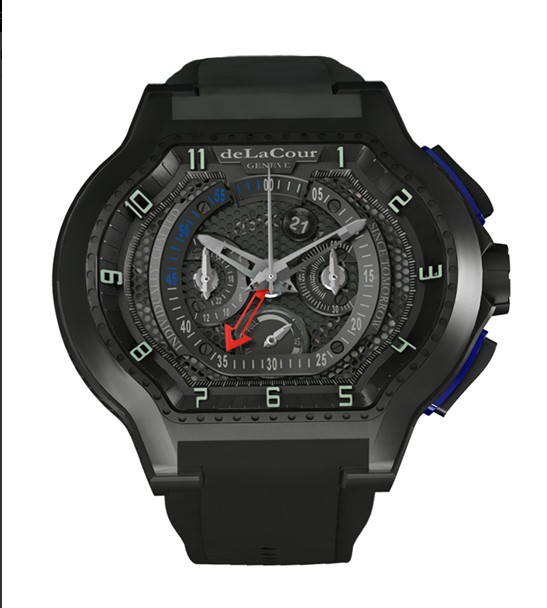 Replica DeLaCour City Ego Chrono 45 Ti Grey PVD WATI0046-1356 Replica Watch