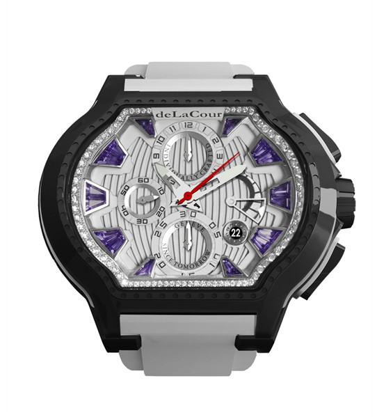 Replica DeLaCour City Ego Episode W Ti/PVD/Amethyst Dial WATI0057-1430PURPLE Replica Watch