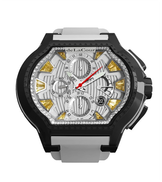 Replica DeLaCour City Ego Episode W Ti/PVD/Citrine Dial WATI0057-1430YELLOW Replica Watch
