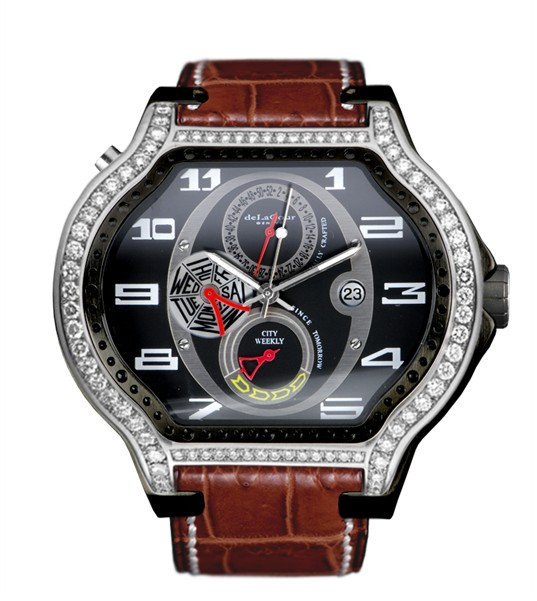 Replica DeLaCour City Ego Weekly Steel/PVD Diamonds WAST2407-1217 Replica Watch