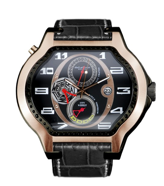 Replica DeLaCour City Ego Weekly Ti/PVD/Rose Gold WATP0044-1217 Replica Watch