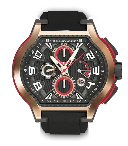 Replica DeLaCour City Ego Episode Ti/PVD/Rose Gold WATP0079-1419 Replica Watch