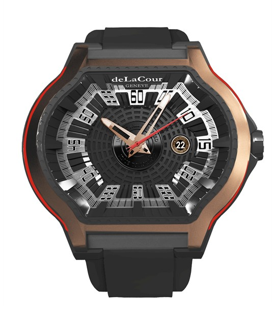 Replica DeLaCour City Ego Caractere Ti/PVD/Rose Gold WATP0080-1402 Replica Watch