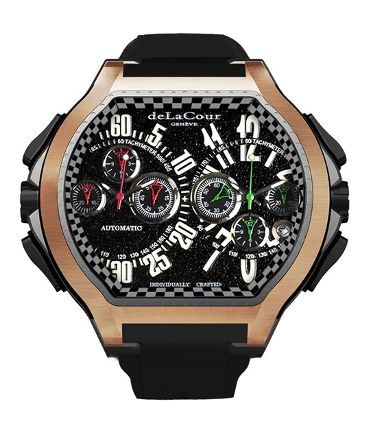 Replica DeLaCour BiChrono S3 Rafaga Titanium and Rose Gold WATP0093-1285RAFAGA Replica Watch