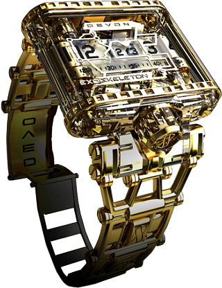 Buy Replica Devon Thread Exoskeleton Gold watch