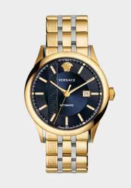 Cheap Versace GOLD TONED AIAKOS AUTOMATIC Watch Replica