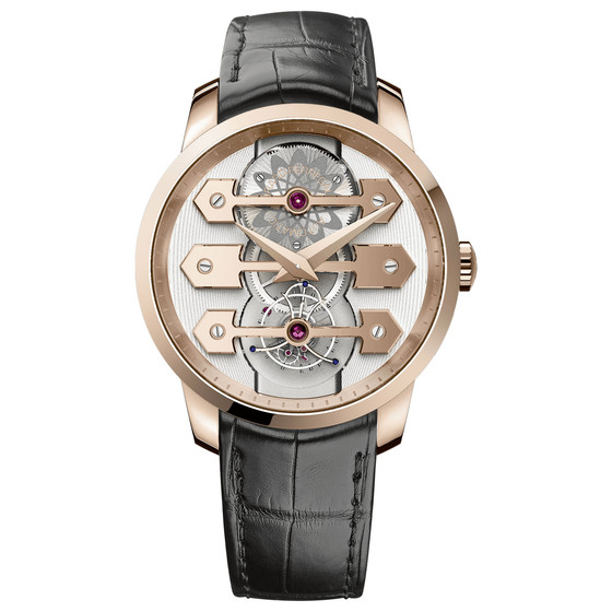 Review Replica Girard-Perregaux TOURBILLON WITH THREE GOLD BRIDGES 45 MM 99280-52-000-BA6E watch