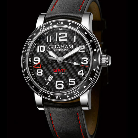 Replica Graham London Watch replica SILVERSTONE TIME ZONE BLACK 2TZAS.B02A