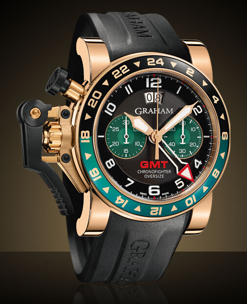 Graham London Chronofighter Oversize GMT Steel & Gold / Gold - 2OVGR.B16A Men Copy Watch