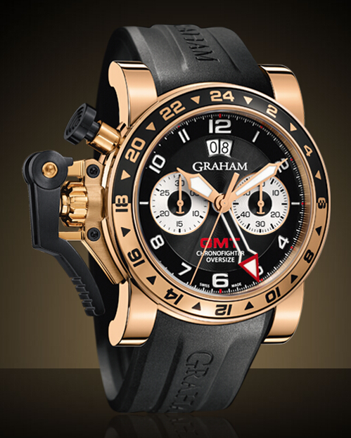 Graham London Chronofighter Oversize GMT Steel & Gold / Gold - 2OVGR.B21A Men Copy Watch