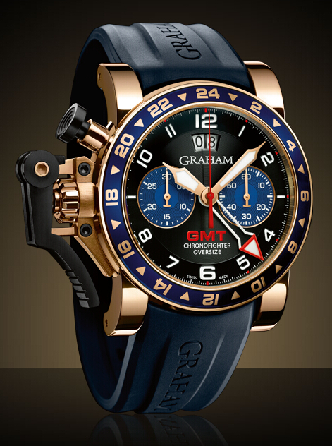 Graham London Chronofighter Oversize GMT Steel & Gold / Gold - 2OVGR.B26A Men Copy Watch